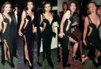 Black Versace dress of Elizabeth Hurley- famous dresses